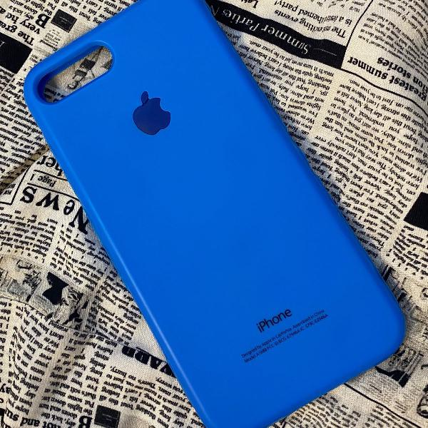 Capinha azul iphone 7/8 plus