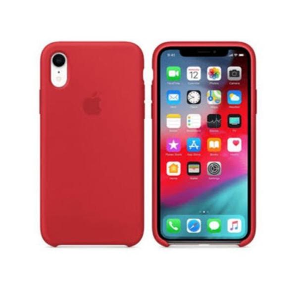 Capinha iphone xr silicone aveludada (vermelha)