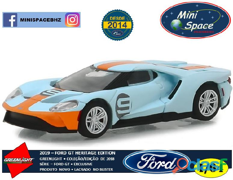 Greenlight 2019 ford gt heritage edition 1/64