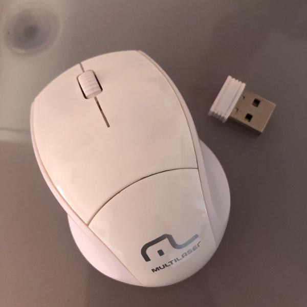 Mini mouse sem fio multilaser com pilha