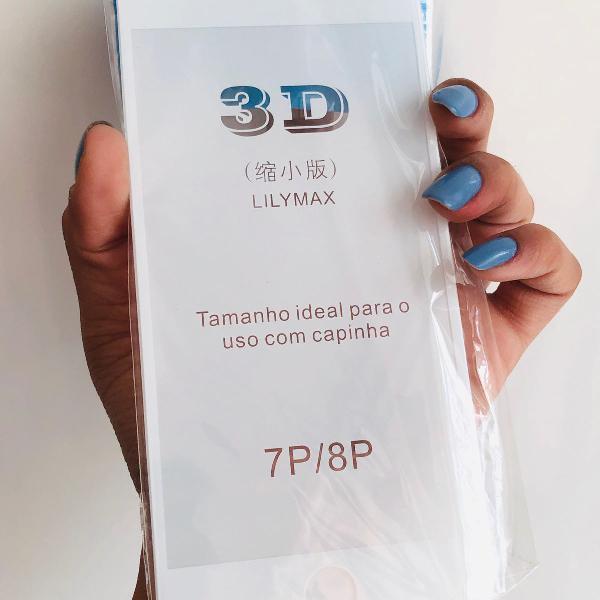 Película 3d de vidro para iphone 7/8normal e 7plus