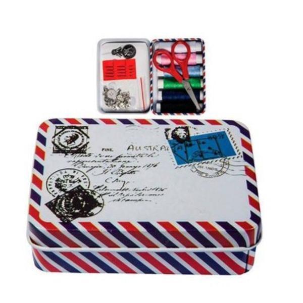 Travel kit de costura na latinha