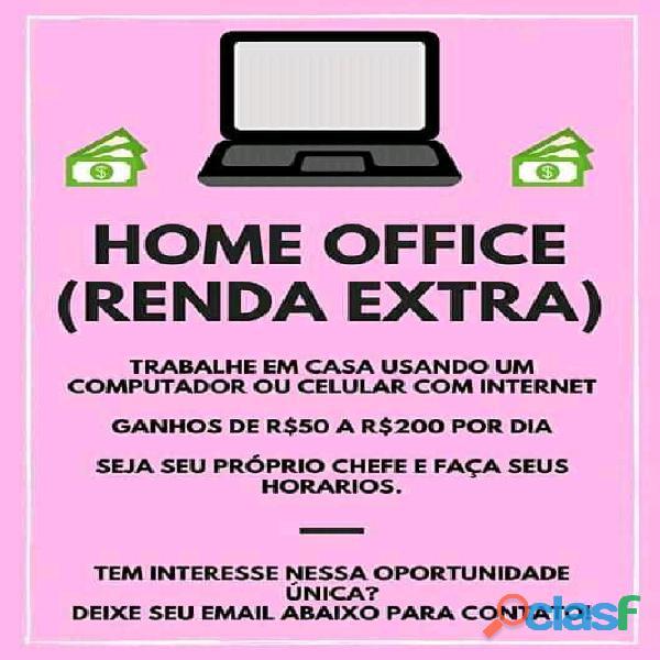 Home office obter uma renda extra