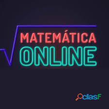 Matemática atenção individual (aulas on line)