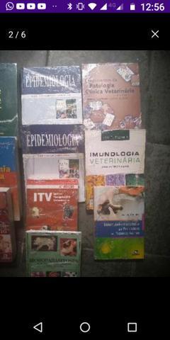 10 livros de medicina veterinária. usados. nomes nas fotos
