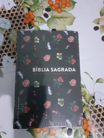 Bíblia sagrada e bíblia de estudo