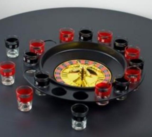 Jogo de cassino roleta shot drink com 16 copos para drink