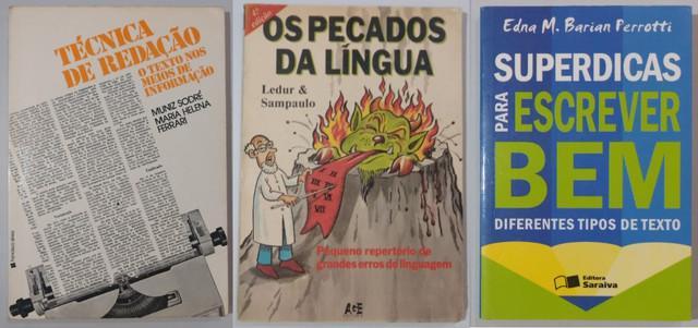 Livros de redação / gramática / comunicação: