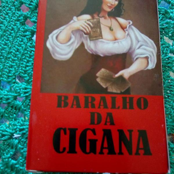 Baralho da cigana com 36 cartas, acompanha 1 livro