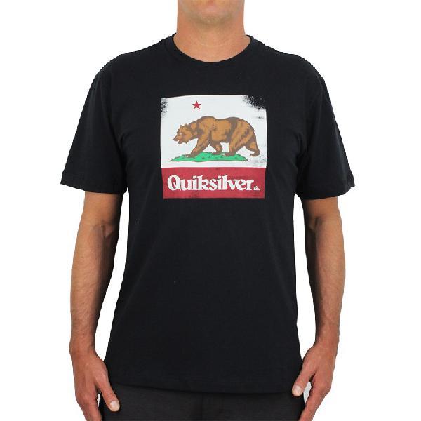 Camiseta quiksilver ca bear black - surf alive