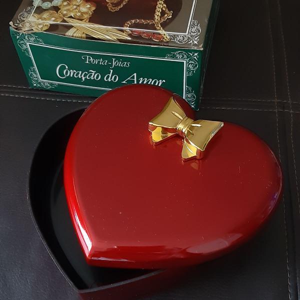 Porta-jóias coração do amor novo