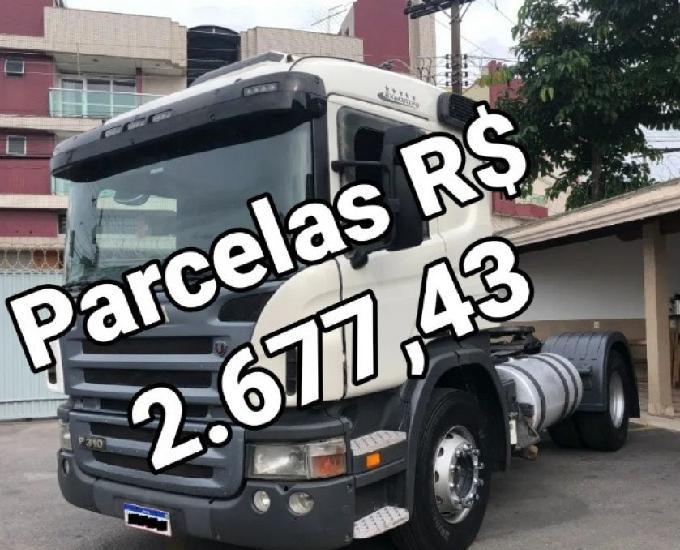 Scania p310 4x2 2011 entrada de 12.000 assumir parcela