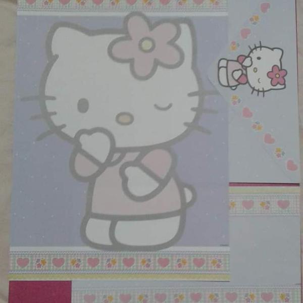 Super combo papel de carta hello kit