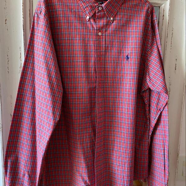 Camisa manga comprida ralph lauren g custom fit