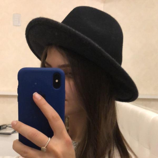 Chapéu casual preto retrô nunca usado