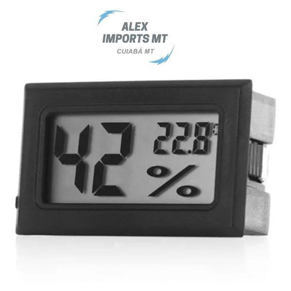 Higrômetro medidor temperatura e umidade extensão de