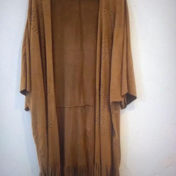 Kimono marfino em suede