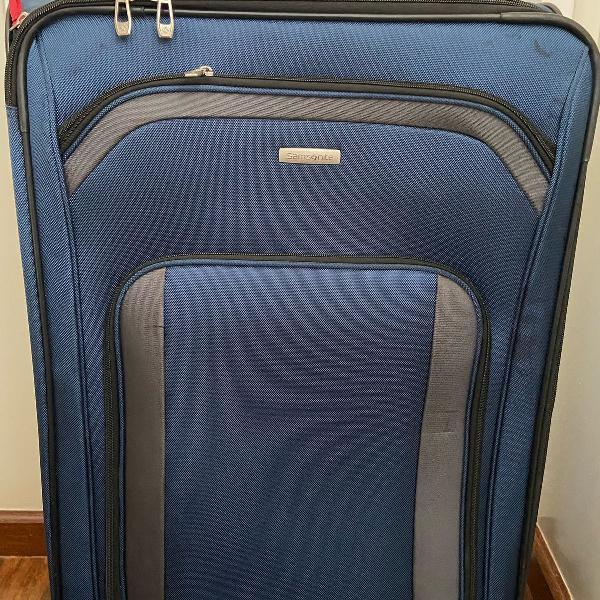Mala de viagem - samsonite - eco-lite grande (azul com 85 cm