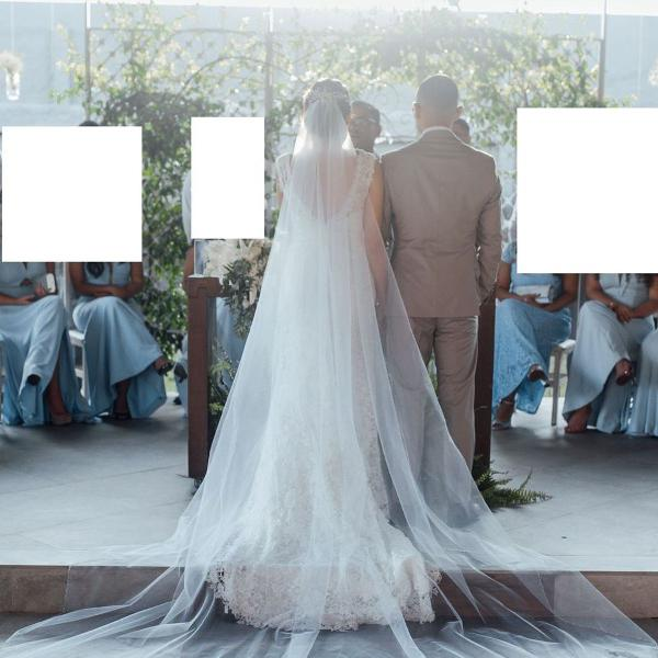 Véu de noiva - off-white - 3 metros