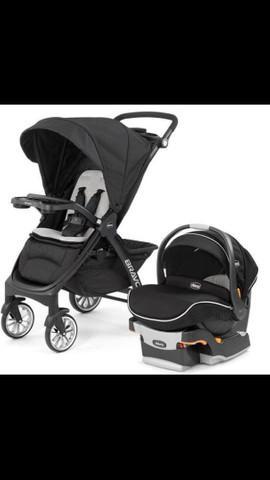 Carrinho de bebê chicco bravo travel system