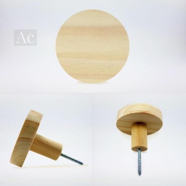 Gancho cabideiro de madeira