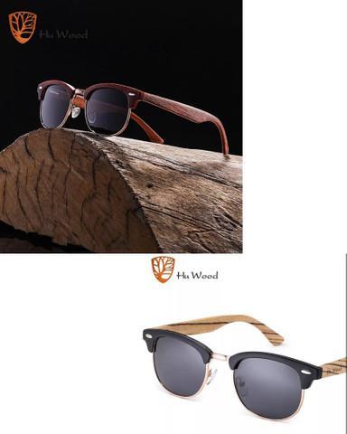 Hu wood original em madeira natural unissex