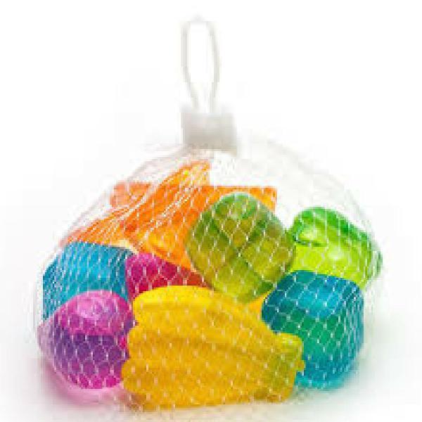 Kit com 9 gelo artificial ecológico colorido