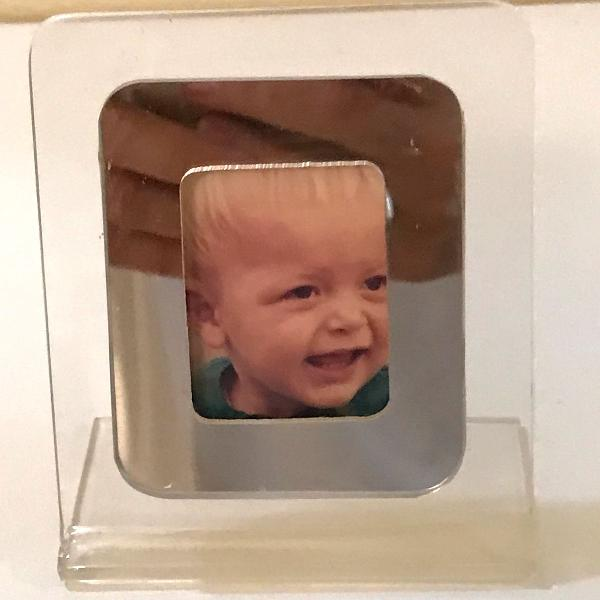 Mini porta-retrato de acrílico