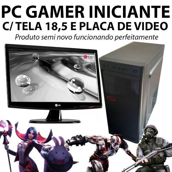 Pc gamer/home com placa de video e tela semi novo