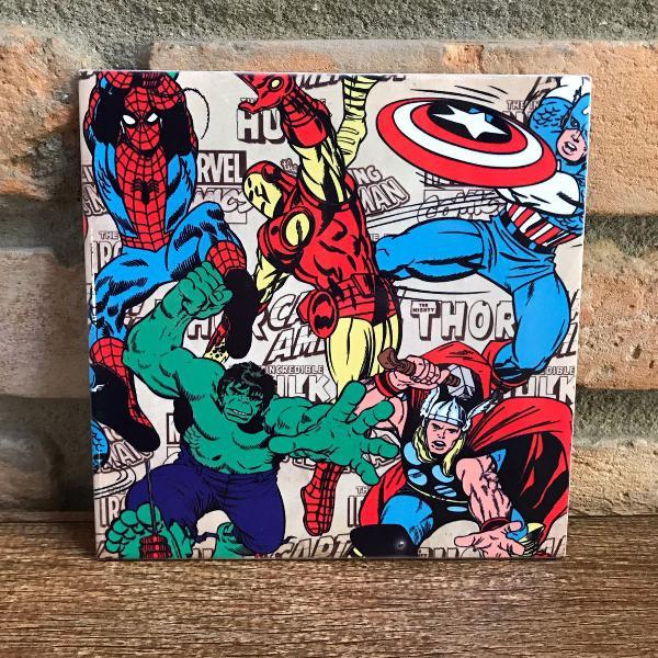 Azulejo decoração super heróis