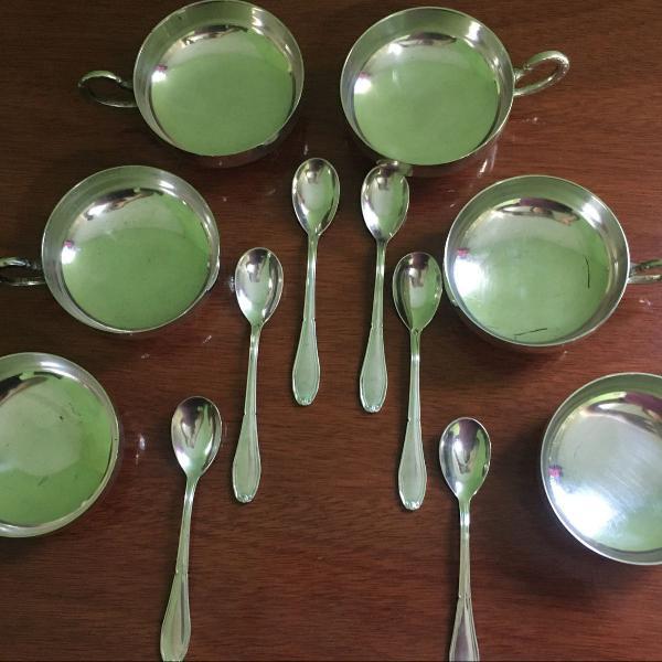 Conjunto de sobremesa em prata eberle 6 peças