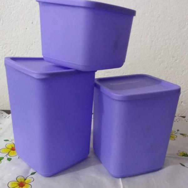 Kit tupperware refri line com 3 peças
