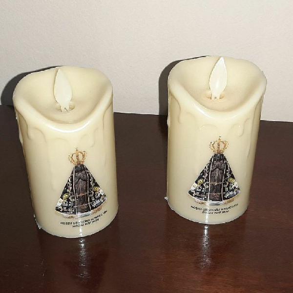 Kit velas led de devoção nossa senhora aparecida