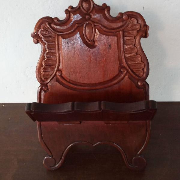 Porta bíblia antigo estilo dom josé madeira maciça