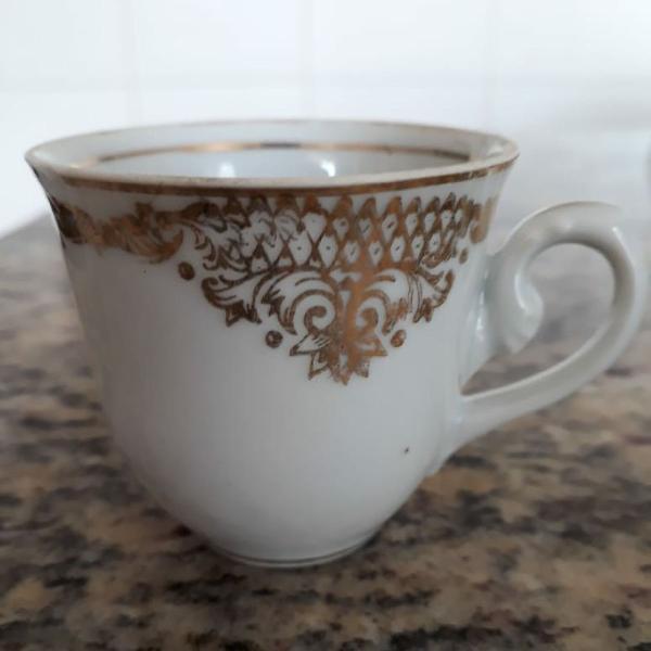 Xícara café porcelana antiga