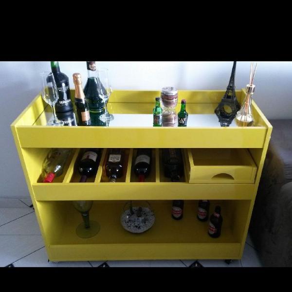 Bar adega / aparador amarelo
