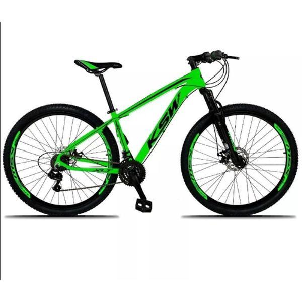 Bicicleta aro 29 ksw xlt câmbio shimano 21v freio a disco
