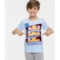 Camiseta infantil estampada manga curta authentic games <div