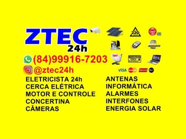 Cerca elétrica, motor, câmeras, interfones, antenas,