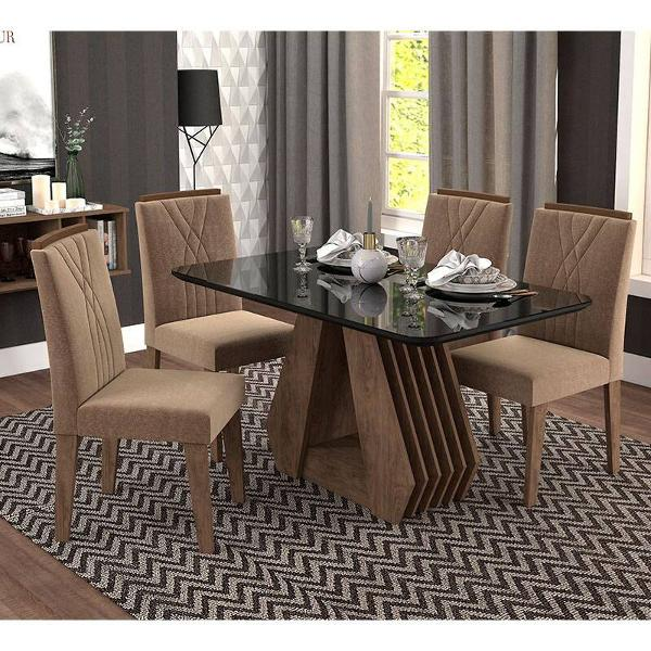 Conjunto de 4 cadeiras para sala de jantar 130x80 c/moldura