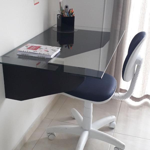 Home office escrevaninha e cadeira tok&stok