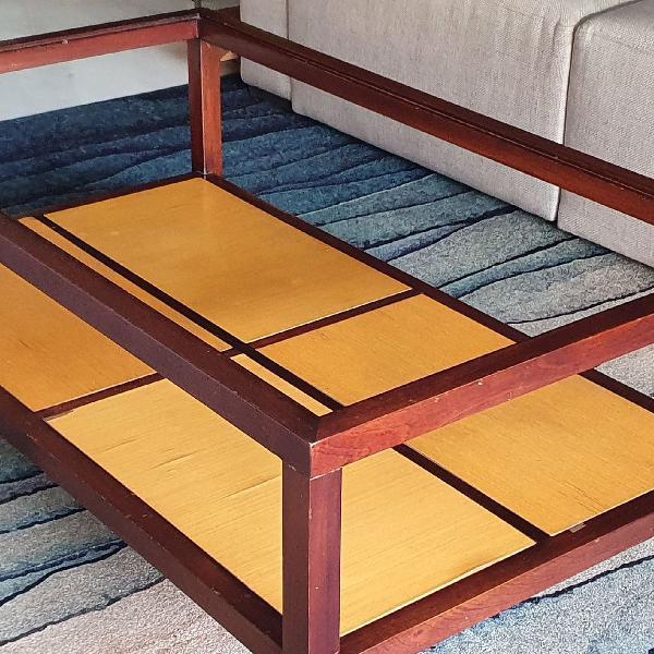 Mesa de centro madeira 120x70