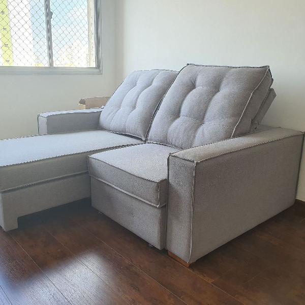 Sofa retrátil e reclinável 1,9 com braços de 20cm - molas