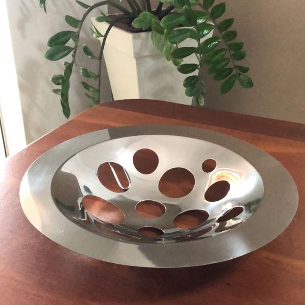 Centro de mesa forma inox