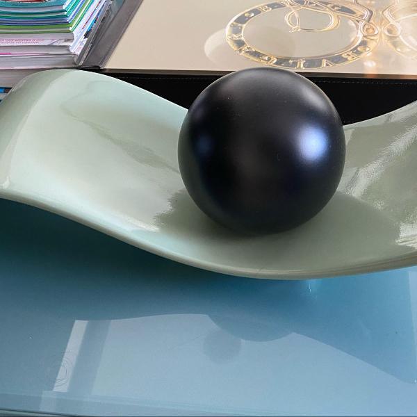 Enfeite para mesa azul e preto