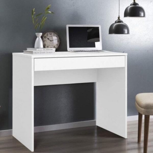 Escrivaninha 1 gaveta facility demobile branco nova