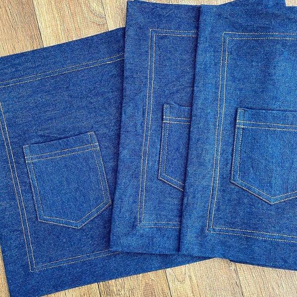 Kit 4 lugares americano jeans