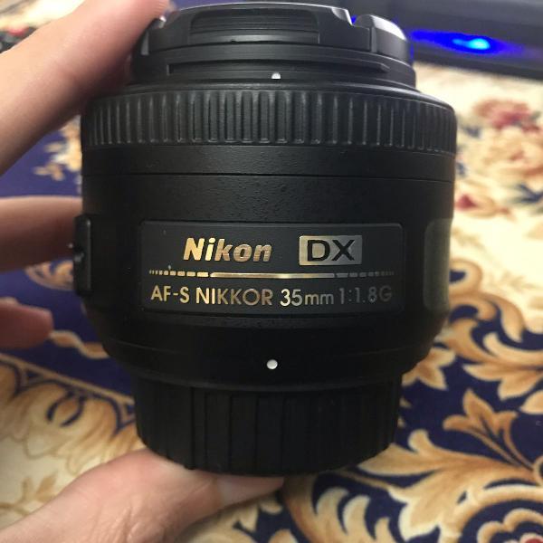 Lente 35mm 1.8d dx (uso em full frame e fica só uma