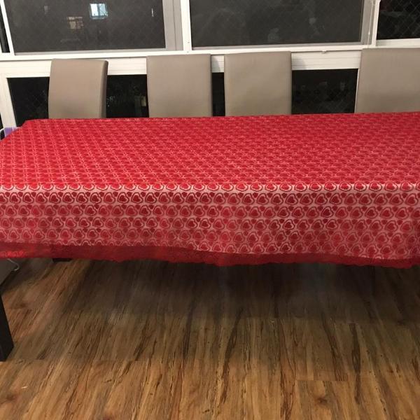 Mesa de jantar 8 lugares madeira maciça