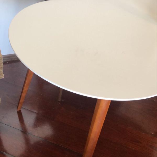 Mesa linda dora oval jantar